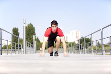 Running athlete