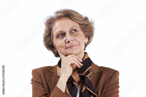 Senior businesswoman thinking