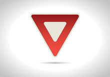Yield / Give Away Traffic Sign Icon
