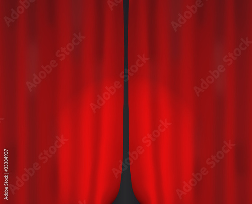 closed curtain