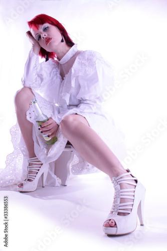Braut säuft
