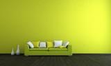 Wohndesign . grünes Sofa