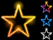 Glowing Neon Stars Set of Four