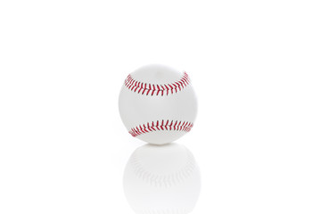 A clean white baseball