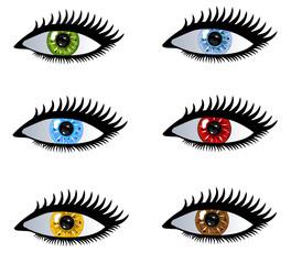 Vektorset Augen