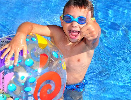 Leinwanddruck Bild Schwimmer