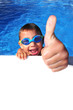 Leinwanddruck Bild - Schwimmer