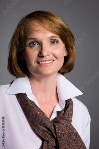 Beautiful smiling middle aged woman