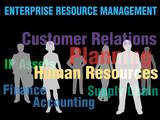 ERM Enterprise Resource Management business people poster