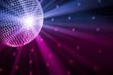 Fototapety party lights disco ball