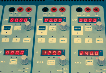 digital display and control knobs