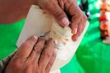 Jaguar mayan sculptor handcraft knife hands poster