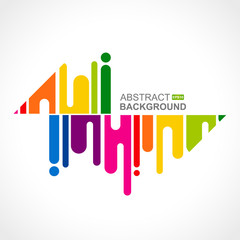 Urban designed background with stylized abstraction