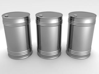 metal oil fuel barrels
