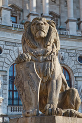 Lion statue in Vienna