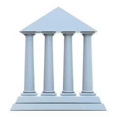 Ancient building with 4 columns