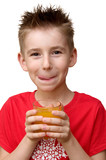 boy with glass of juice