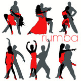 Rumba silhouettes set