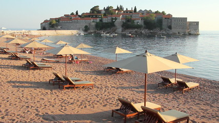 Island and the Beach in Montenegro