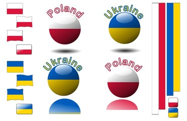 Polish and Ukrainian flags