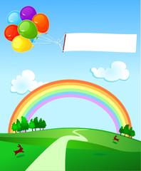 Banner e palloncini - Balloons and banner