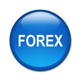 Boton brillante texto FOREX poster