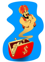genie appears from wallet