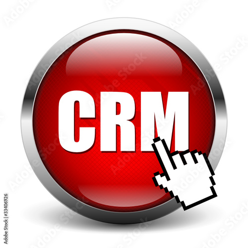 red CRM button