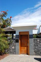 Entrance to the area of luxury villa, Tenerife island, Spain