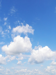 blue sky and white clouds 2