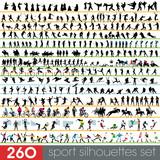 Fototapety 260 sport silhouettes set
