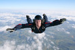 Close-up of skydiver in freefall - 33409150