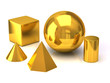 Golden geometric objects