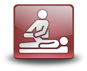 "Red 3D Effect Icon ""Physical Therapy"""
