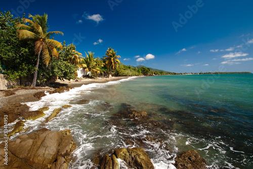 Spoed canvasdoek 2cm dik Caraïben Seashore, Puerto RIco