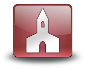 "Red 3D Effect Icon ""Chapel"""