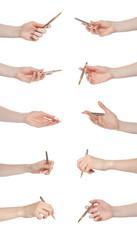 Hand gesture set pen