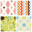 Set of modern colorful seamless patterns