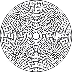 Circular maze very difficult