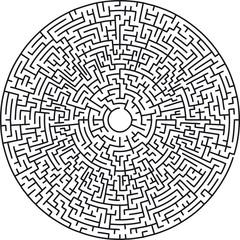 Circular maze very difficult