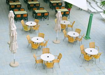 Empty summer caffee