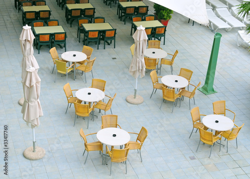 Empty summer caffee