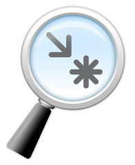 """Magnifying Glass Icon """"Points Of Interest / Sightseeing"""""""
