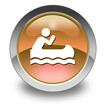 "Orange Glossy Pictogram ""Canoeing"""