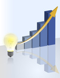 idea light bulb Business graph