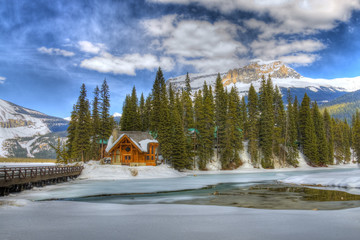 HDR Emerald Lake, Canadian Rockies