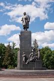 Monument to Taras Shevchenko in Kharkov, Ukraine poster