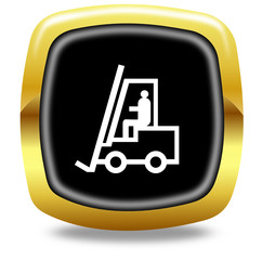 Forklift truck button