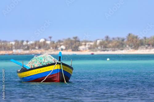 Poster Tunesië Fischerboot