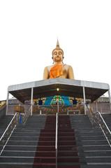 The big buddha statue isolated